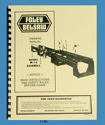 Foley Belsaw M-14 Sawmill Instruction, Assembly, Operator And Parts Manual 1146