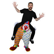 Clown Pick Me Up Ride On Costume Funny Circus Halloween Fancy Dress Novelty