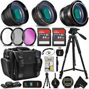 Xtech Kit For Canon Eos Kiss X4 - Deluxe 28 Piece W/ 3 Lenses +24gb Mmry +more