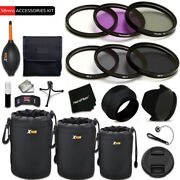 Pro 58mm Accessories Kit W/ Filters + More F/ Canon Eos 5d Mark Ii
