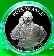 Pope Francis Usa 2015 Commemorative Coin Proof Life Of Pope Francis Value 89.95