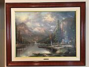 Thomas Kinkade - Beginning Of A Perfect Day Iii S/n Oil On Canvas