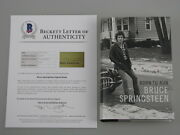 Bruce Springsteen Hand Signed And039born To Runand039 Book +bas Beckett Loa Buy Genuine