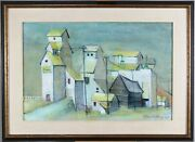 Anne Meredith Barry 1931-2003 Canadian High River Alberta Farm Mixed Media