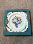 Lenox 1998 Collectible Plate Colonial Bouquet New In Box