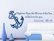 Wall Decals Quotes Psalms 93 4 Vinyl Sticker Sea Anchor Home Decor Bedroom Ns580