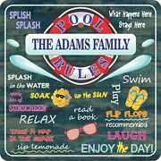 Personalized Pool Rules Sign Funny Swimming Pool Signs Summer Outdoor Decoration