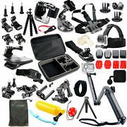 Pro Three Way Tripod Mount Accessories Kit For Gopro Hero 9 8 7 6 5 4 Session 3