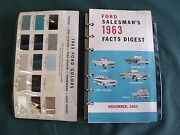 Near Nos 1963 Ford Salesmanand039s Facts Digest Galaxie T-bird Truck 427 Fairlane