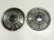 Vintage Pair Of Dodge Hub Caps - 1960and039s 70and039s 1969 1970 1971 1972 - Nice Original