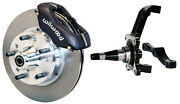 Wilwood Disc Brake Kitfrontwith Wwe Prospindles11 Rotorsblack Calipers