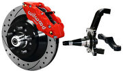Wilwood Disc Brake Kitfrontwith Wwe Prospindles13 Drilled Rotorsred Caliper