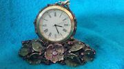 Jay Strongwater Mayfair Leaf And Bee Clock Rare Signed 2001 Crystal