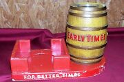 Early Times Whiskey Bar Display Bottle Holder Sign Kentucky Whisky Old Vintage