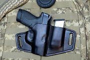 Survival Series Fits Mandp Shield Holster 9mm Leather Pancake With Magazine Holder