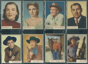 9552 1953 Topps Who Z At Star Complete Set Vgex-exmt All Scanned Front/back