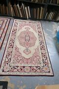 Vintage Antique American Primitive Hand Made Wool Hooked Rug 3and0392 X 6and039 Medallion
