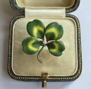 An Unusual Four Leaf Clover Enamel And Diamond Ring Circa 1800andrsquos