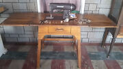 Antique Kenmore 1938 Imperial Rotary Sewing Machine With Cabinet And Bench Seat