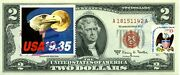 2 Dollars 1963 Legal Tender Stamp Cancel Eagle And Moon Express Mail 350