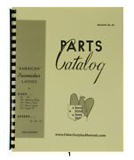 Americantool Pacemaker Lathe 14 To 25 Parts Manual 1