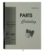 American Tool Pacemaker Lathe Sizes 25 And 32 Parts Manual 67 Pages 3