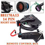 14 Pin Mercury Outboard Engine Right Side Mount Remote Control Box W/15 Ft Cable