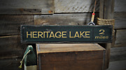 Personalized Lake Name And Mileage Wooden Sign - Rustic Hand Made