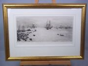 And039the Bay Of Naplesand039 Etching By William Lionel Wyllie 1851-1931 Signed
