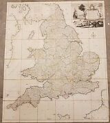 Large Antique 1777 Map Of England Or South Britain And Wales By Thomas Kitchin