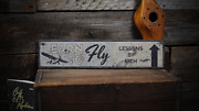 Airplane Decor Aviation Pilot Learn - Rustic Distressed Wood Sign