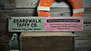 Taffy Boardwalk Salt Water - Rustic Vintage Distressed Wooden Sign