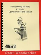 Alliant Vertical Milling Machine Rt-2s, Rt-2tv Operator And Parts Manual 0006