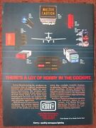 11/1982 Korry Lighted Pushbutton Switch Military Commercial Aircraft Original Ad