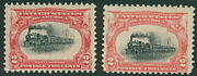 Us 295 2¢ Pan-am Expo, High Train And Low Train Nh
