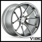 19 Ferrada Fr2 Silver Concave Wheels Rims Fits Ford Mustang