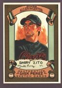 Barry Zito Giants Rare Dick Perez Sketch Art 2007 Topps Allen And Ginter A's