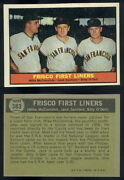 52647 1961 Topps 383 Frisco First Liners-mccormick-sanford-o'dell Giants-nm