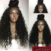 Womenand039s Black Curly Wave Synthetic Lace Front Wig Heat Resistant Japan Fiber