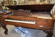 1882 Steinway Square Grand Piano Style H 6and0398 Serial 47121 Rosewood Case Video