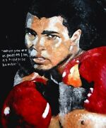 Muhammad Ali In Palette Knife Oil Painting. Boxing The Greatest. Extra Large.