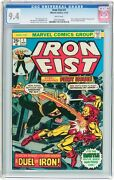 Iron Fist 1 Cgc 9.4 1975 Iron Man Cover White Pages Key Bronze Age G5 706 Cm