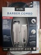 Andis 66325 Barber Combo-powerful Clipper/trimmer Comber Kit 110 V W/ Free Razor
