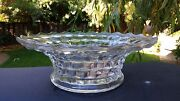 Fostoria American 2056 Clear Flared Centerpiece Bowl 11andfrac12 / Punch Bowl Stand