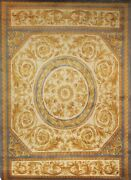 Hand-knotted Multi Color European Design 9and039 X 12and039 French Rug