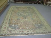 Semi- Antique Turkish Sivas Oushak Rug Hand Knotted Wool 6and039-8 X 10and039-3