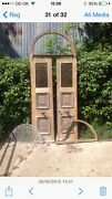 Arched Victorian Front Door Stained Glass Wood External Frame Reclaimed Old Oak