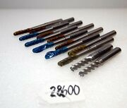 1 Lot Of Hss Fluted End Mill Cutters Inv.28599