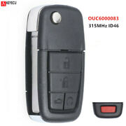 Flip Remote Key 5 Button 315mhz Can Id46 For Pontiac G8 2008-2009 Ouc6000083