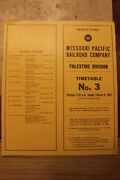 Missouri Pacific Palestine Division Employee Timetable 3 February 8,1959-n Mint